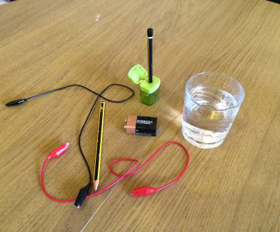 how to wire a light bulb to a 9v battery Electrolysis of Water: with Pencils, a 9V Battery « Orbiting Frog How To Wire A Light Bulb To A 9V Battery Simple Electrolysis Of Water: With Pencils, A 9V Battery « Orbiting Frog Solutions