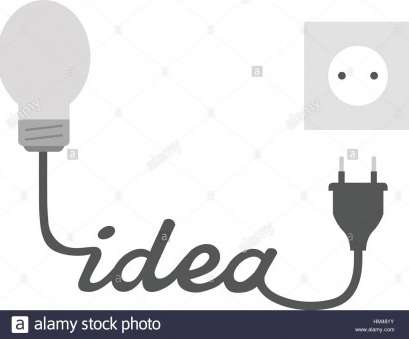 how to wire a light bulb to a plug Vector grey light bulb with idea wire electrical plug, outlet., Stock Image How To Wire A Light Bulb To A Plug Best Vector Grey Light Bulb With Idea Wire Electrical Plug, Outlet., Stock Image Solutions