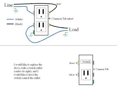 how to wire a light fixture from an existing outlet Leviton, Flush Mount Power Outlet Wiring Diagram, Tamper Resistant Combo Switch, New How How To Wire A Light Fixture From An Existing Outlet Cleaver Leviton, Flush Mount Power Outlet Wiring Diagram, Tamper Resistant Combo Switch, New How Images