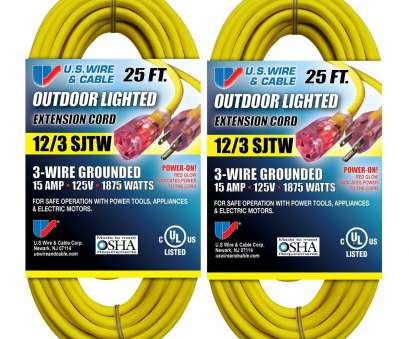 how to wire a light into an extension cord US Wire 74025 12/3 25-Foot SJTW Yellow Heavy Duty Lighted Plug Extension Cord, Amazon.com How To Wire A Light Into An Extension Cord Top US Wire 74025 12/3 25-Foot SJTW Yellow Heavy Duty Lighted Plug Extension Cord, Amazon.Com Pictures