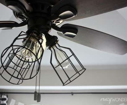 How To Wire A Light On A Ceiling Fan New DIY Cage Light Ceiling,, Crazy Wonderful Collections