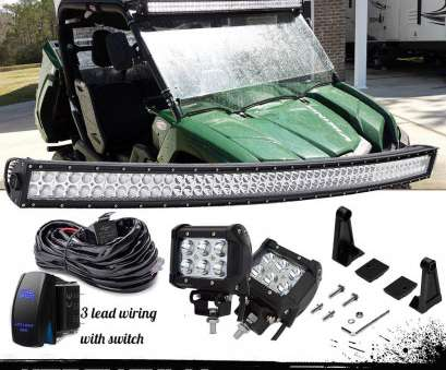 how to wire a light bar on a yamaha rhino For Yamaha Rhino Viking VI, 1000 288W, Curved, Light Bar+4