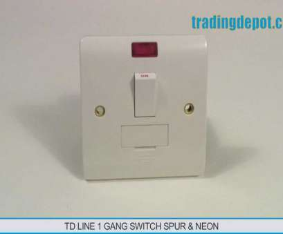 how to wire a light switch from a fused spur TRADING DEPOT: TD Line Switch Spur & Neon 1 Gang Part, TLV419 How To Wire A Light Switch From A Fused Spur Best TRADING DEPOT: TD Line Switch Spur & Neon 1 Gang Part, TLV419 Photos