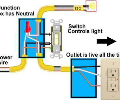 how to wire a light switch and outlet together Wire A Light Switch, Outlet, Receptacle Together With Wiring Diagram, Contemporary 10 New How To Wire A Light Switch, Outlet Together Solutions
