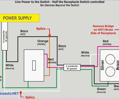 How To Wire A Light Switch, Outlet ther Top Outlet To ... Half Receptacle Switch Wiring Diagram on