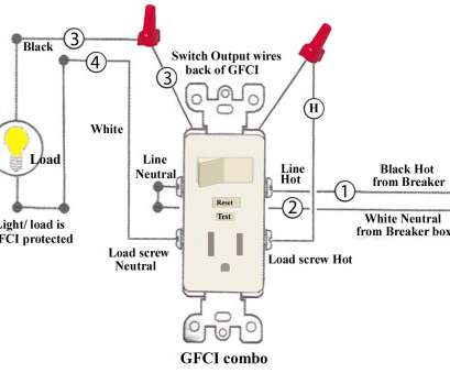 how to wire a light switch, plug in, same box simple wiring a gfci
