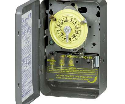 how to wire a light switch timer T102 40, 24-Hour Mechanical Time Switch with Indoor Steel Enclosure How To Wire A Light Switch Timer Nice T102 40, 24-Hour Mechanical Time Switch With Indoor Steel Enclosure Ideas