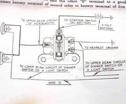 how to wire a light switch to a 6 volt battery 6 volt headlight relay, 6v, vintage, rod head light illarco rh nospartspros, Basic Headlight Wiring Diagram Headlight Bulb Wiring-Diagram 14 Perfect How To Wire A Light Switch To, Volt Battery Photos