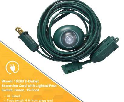 how to wire a light to extension cord Woods Indoor Extension Cord With Lighted Foot Switch, 3 Outlets (15Ft, Green), Christmas Tree Foot Switch, Amazon.com How To Wire A Light To Extension Cord Top Woods Indoor Extension Cord With Lighted Foot Switch, 3 Outlets (15Ft, Green), Christmas Tree Foot Switch, Amazon.Com Images