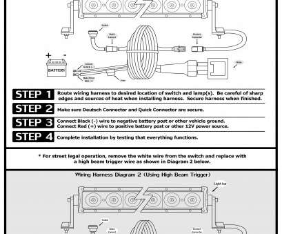 How To Wire A, Light, To High Beam Simple Double, E-Code #72020E, Light, 20″ Pictures
