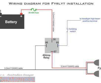 How To Wire A, Light, To High Beam Fantastic Simple Wiring, Led Lights, Enthusiasts Wiring Diagrams U2022 Rh Okdrywall Co Collections