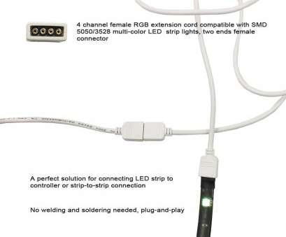 how to wire a light with 4 cables 4-pin Female Dual, RGB, Strip Connector Cable (50cm), TORCHSTAR How To Wire A Light With 4 Cables Professional 4-Pin Female Dual, RGB, Strip Connector Cable (50Cm), TORCHSTAR Images