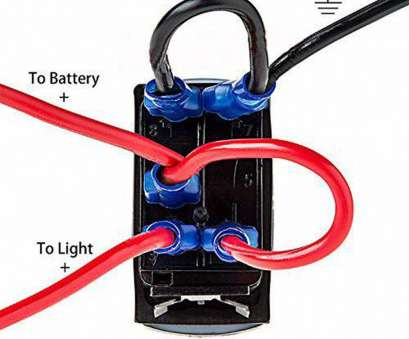how to wire a light bar with a toggle switch boat, blue 2, light laser rocker switch backlit zombie lights rh ebay, at How To Wire A Light, With A Toggle Switch Brilliant Boat, Blue 2, Light Laser Rocker Switch Backlit Zombie Lights Rh Ebay, At Images