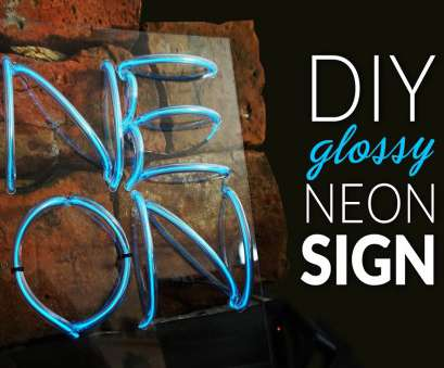 how to wire a neon light How to make NEON SIGN glossy -, el-wire neon sign look like a real! How To Wire A Neon Light Fantastic How To Make NEON SIGN Glossy -, El-Wire Neon Sign Look Like A Real! Solutions