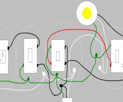 How To Wire A Three, Switch To A Single Light Simple Adding A Switch Single Outlet To Existing 3, Light Adorable Wiring Diagram Photos