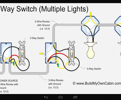 how to wire a three way switch with light in middle 4, Switch Wiring Diagram Multiple Lights, Wire In How To Wire A Three, Switch With Light In Middle Cleaver 4, Switch Wiring Diagram Multiple Lights, Wire In Images