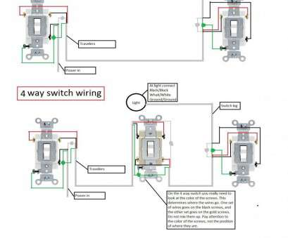 How To Wire A Three-Way Switch Receptacle Por Leviton ... A Way Switch Wiring Diagram For V Light on
