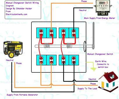 How To Wire A Transfer Switches, Home Generators Fantastic ...  Way Switch Wiring Diagram For Amp Standby on