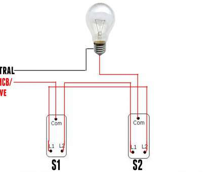 How To Wire A, Way Switch, A Light Cleaver In This Picture Above Shown, COM In S1 (Switch 1) Is Connected To, At Distribution Board. Another, In S2 (Switch 2) Is Connect To, Light Bulb Collections
