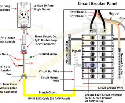how to wire an electrical outlet from a circuit breaker box Ground-Fault-Circuit-Breaker-and-Electrical-Outlet-Wiring-Diagram How To Wire An Electrical Outlet From A Circuit Breaker Box Popular Ground-Fault-Circuit-Breaker-And-Electrical-Outlet-Wiring-Diagram Pictures