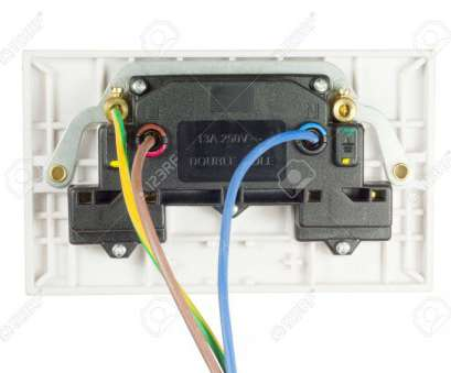 how to wire an electrical outlet uk back view of a uk double socket outlet Stock Photo, 16245674 18 Brilliant How To Wire An Electrical Outlet Uk Images