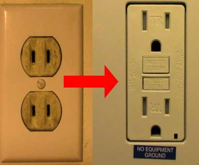 how to wire an electrical outlet with 2 wires Replace Your, Two Prong Receptacle with a GFCI Receptacle, 2014,, YouTube 11 Brilliant How To Wire An Electrical Outlet With 2 Wires Photos