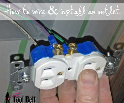 how to wire an electrical outlet with red white & black wires how to wire, install an outlet plug How To Wire An Electrical Outlet With, White & Black Wires Creative How To Wire, Install An Outlet Plug Collections