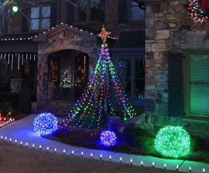 how to wire christmas lights outside Make a, Christmas light tree, the yard using string lights, a basketball pole How To Wire Christmas Lights Outside Professional Make A, Christmas Light Tree, The Yard Using String Lights, A Basketball Pole Pictures