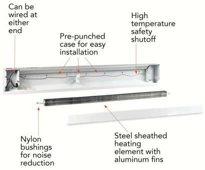 how to wire electric baseboard heater Cadet 4F1000-8W (11944) Electric Baseboard Heater, 48