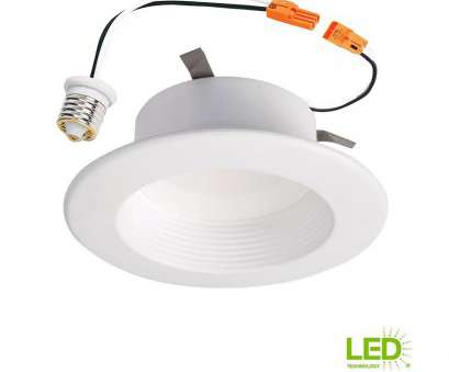 how to wire halo led recessed lights Halo RL 4, White Integrated, Recessed Ceiling Light Fixture Retrofit Baffle Trim with 90 CRI, 3500K Bright White 20 Fantastic How To Wire Halo, Recessed Lights Galleries