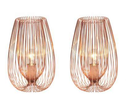 how to wire a 2 light lamp Pair of (Set of 2) Contemporary Modern Copper Wire Table Bedside Lights Lamp How To Wire, Light Lamp Brilliant Pair Of (Set Of 2) Contemporary Modern Copper Wire Table Bedside Lights Lamp Collections