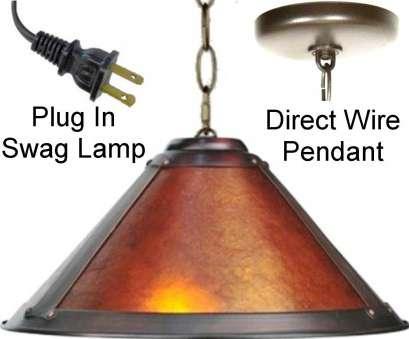 how to wire a 2 light lamp Rustic Pendant Light Mica Swag Lamp Plug In Or Direct Wire Dirk, Erp Design, Made, 3