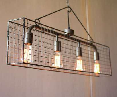 how to wire up a kitchen light this simple cage pendant,, four bulb wire mesh horizontal pendant light by Kalalou, will, industrially chic style to, room in, home. hang alone How To Wire Up A Kitchen Light New This Simple Cage Pendant,, Four Bulb Wire Mesh Horizontal Pendant Light By Kalalou, Will, Industrially Chic Style To, Room In, Home. Hang Alone Photos