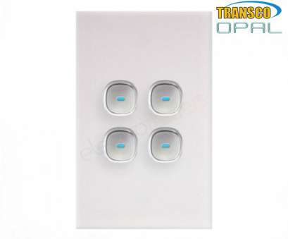 How To Wire Up, Gang Light Switch New Opal Series, Push Button 4 Gang Light Switch With Glass-Look Finish, Front Solutions