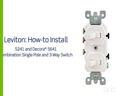 how to wire a 3 way switch as a single pole Leviton Presents:, to Install a Combination Device with a Single Pole, a Three-Way Switch 20 Brilliant How To Wire, Way Switch As A Single Pole Solutions