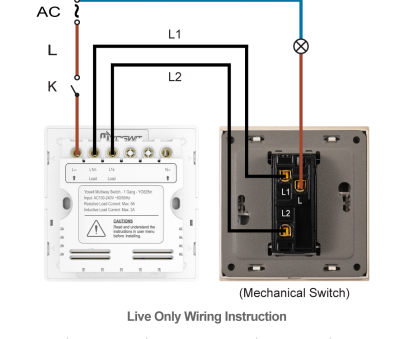 how to wire a 3 way switch with 1 light Option 1: Connect Yoswit 3-way switch with common 3-way switch, 2-wire (without neutral wire) How To Wire, Way Switch With 1 Light Practical Option 1: Connect Yoswit 3-Way Switch With Common 3-Way Switch, 2-Wire (Without Neutral Wire) Collections