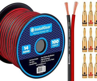 identify speaker wire gauge Amazon.com: InstallGear 14 Gauge, 100ft Speaker Wire Cable, Red/Black with 12 Banana Plugs: Home Audio & Theater Identify Speaker Wire Gauge Professional Amazon.Com: InstallGear 14 Gauge, 100Ft Speaker Wire Cable, Red/Black With 12 Banana Plugs: Home Audio & Theater Collections