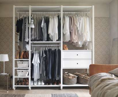 ikea wire basket storage system A white open storage with clothes rails, shelves, drawers Ikea Wire Basket Storage System Fantastic A White Open Storage With Clothes Rails, Shelves, Drawers Pictures