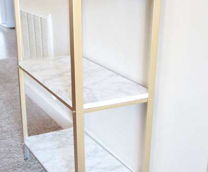 ikea wire metal shelf The easiest, hack to glam your $14.99 Ikea Hyllis Shelf Unit into marble, gold shelves Ikea Wire Metal Shelf Creative The Easiest, Hack To Glam Your $14.99 Ikea Hyllis Shelf Unit Into Marble, Gold Shelves Solutions