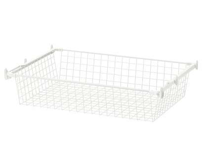 ikea wire shelf basket HJÄLPA Wire basket with pull-out rail White Ikea Wire Shelf Basket Fantastic HJÄLPA Wire Basket With Pull-Out Rail White Ideas