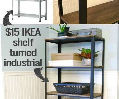 ikea wire shelf liner How to turn IKEA industrial -- from a cheap shelf to a beautiful wood and Ikea Wire Shelf Liner Brilliant How To Turn IKEA Industrial -- From A Cheap Shelf To A Beautiful Wood And Ideas