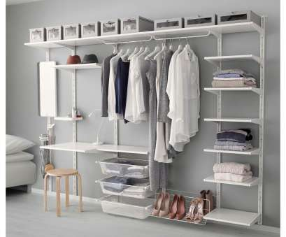 ikea wire shelving closet Interesting ikea algot system with white wire shelving, closets, wood closet organizers ikea 12 Best Ikea Wire Shelving Closet Images