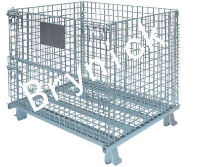 industrial wire mesh storage baskets 40x32x33 Inch Collapsible Metal Storage Containers , Industrial Collapsible Containers Industrial Wire Mesh Storage Baskets Brilliant 40X32X33 Inch Collapsible Metal Storage Containers , Industrial Collapsible Containers Photos