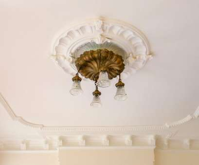 Install Light Fixture Medallion Practical From, Forum: Getting A Plaster Medallion Back On, Ceiling Pictures