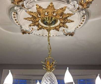 Install Light Fixture Medallion Most Installing Ceiling Light Fixture Elegant Ekena Millwork Benson Classic Ceiling Medallion With Gold Leaves Collections