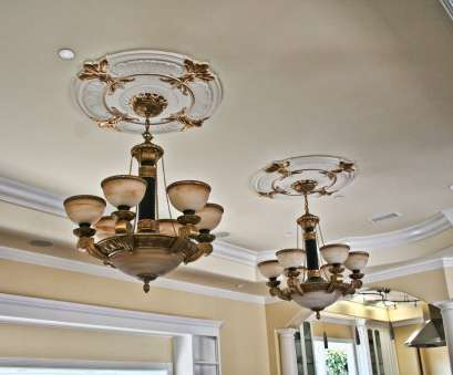 Install Light Fixture Medallion Best MD-9023 Golden Highlight Ceiling Medallion Photos