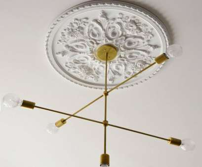 Install Light Fixture Medallion Creative Roundup : Ceiling Medallions, Room, Tuesday Blog Images