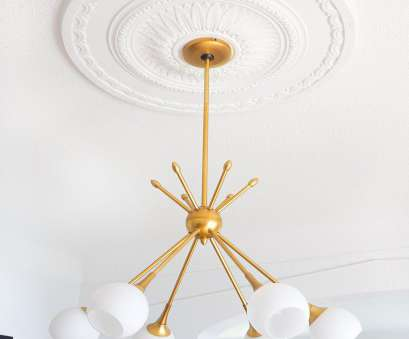 Install Light Fixture Medallion Popular Use A Ceiling Medallion To Center Your Light Fixture Over, Dining Table. Click To Photos