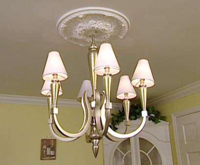 Install Light Fixture Medallion Popular Weekend Projects: Installing A Ceiling Medallion, HGTV Solutions