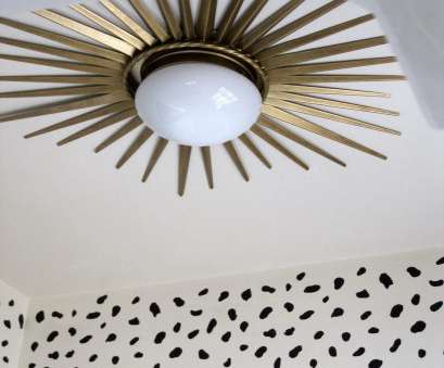 install light fixture on ceiling Install a starburst mirror frame around a flush mount ceiling light, a dramatic makeover! Install Light Fixture On Ceiling Perfect Install A Starburst Mirror Frame Around A Flush Mount Ceiling Light, A Dramatic Makeover! Images